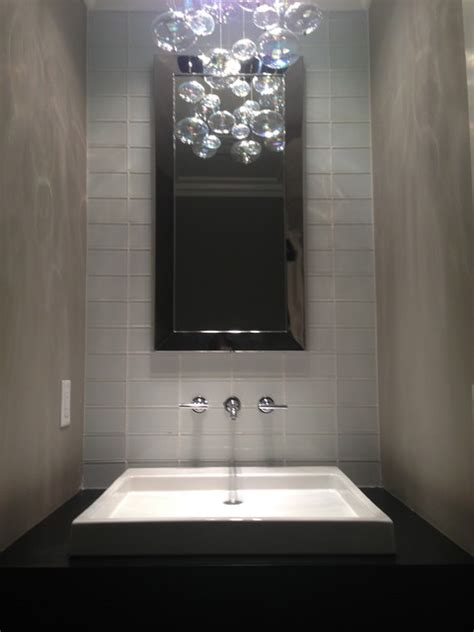 small projects modern powder room  metro