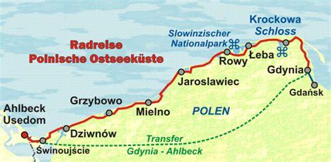polnischer ostseekuesten radweg von usedom entlang der