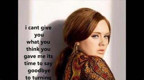 Adele Turning Tables With Lyrics Youtube