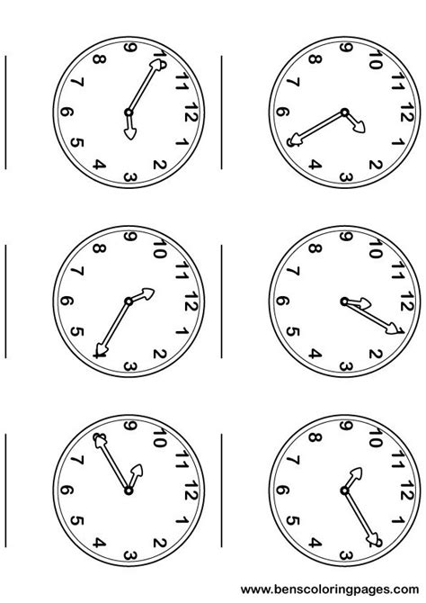 free coloring pages of telling time