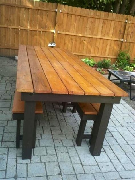 modified rustic table and benches do it yourself home