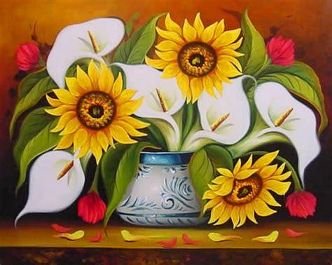 cuadros pinturas arte cuadros de flores al oleo