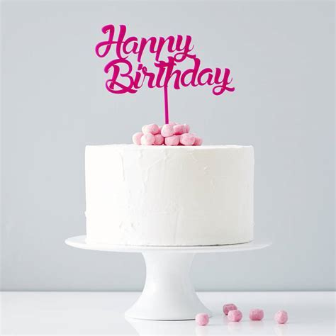 Personalised Birthday Cake Topper By Sophia Victoria Joy Notonthehighstreet