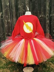 Flash, Super, Hero, Tutu, Dress, Outfit