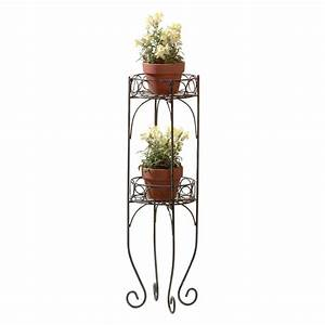 Wrought, Iron, Plant, Stand