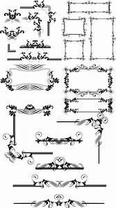 個性的なデザインの飾り枠・飾り罫・フレームの詰め合わせ - Free-Style