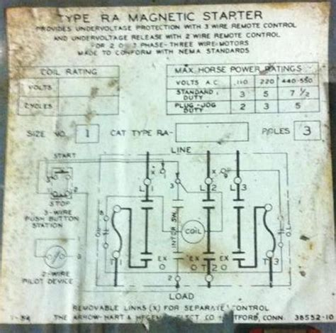 wiring diagram for quincy air compressor help with wiring an old arrow hart magnetic starter quincy compressor doityourself com