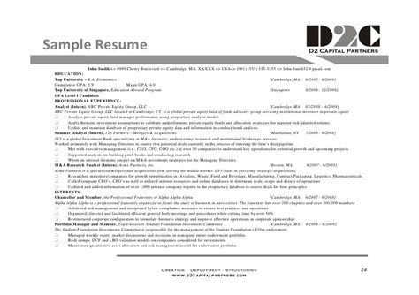 business analyst capital markets resume d2 capital partners intro to capital markets careers d2 c