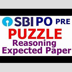 Sbi Po Pre 2018 Puzzle Most Expected Questions  Reasoning Youtube