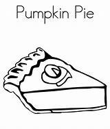 Pie Coloring Pumpkin Turkey Pages Thanksgiving Printable Clip Clipart Print sketch template