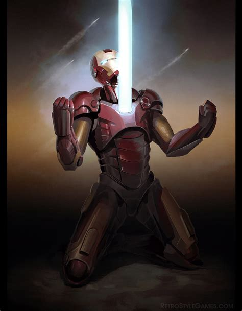 Iron Man Artwork by Iron Man Fan Art Mark Suit Retrostyle Games