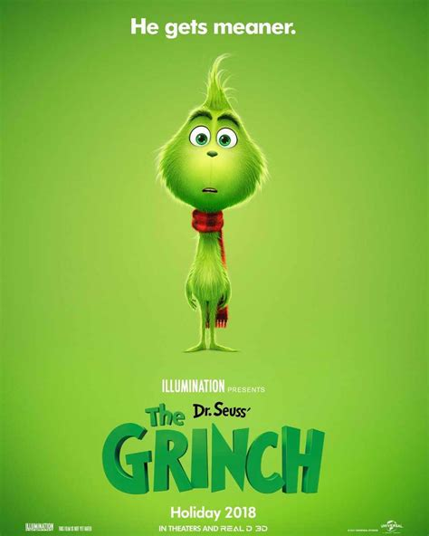 First Poster For Illumination's New 'grinch' Movie Released