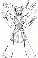 Hecate Goddess Tri Deviantart Coloring Moon Hekate Pages Greek Drawing Triple Pagan Roman Mythology 2004 Witchcraft Mother Crone Maiden Hanging sketch template