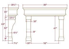 average fireplace dimensions fireplace dimensions
