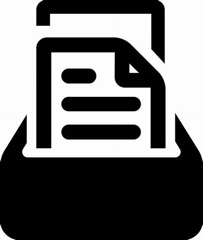 Icon Storage Documents Svg Paper Onlinewebfonts Vise