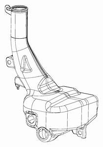 2014 Dodge Charger Reservoir  Windshield Washer  System  Front  Headlamp