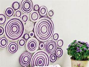 DIY wall art projects using newspaper - Kitchen and