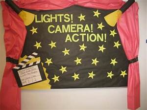 Lights Camera Action Red Carpet Themed Bulletin Board