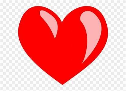 Heart Cartoon Clipart Middle Transparent