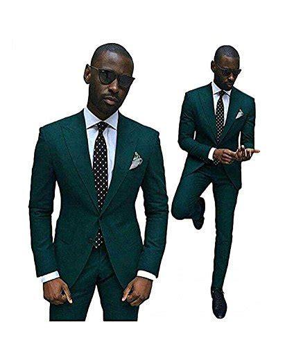 Green Slim Fit Wedding Suits for Men 2 Pieces Groom