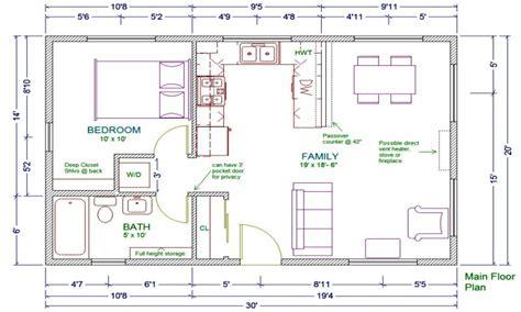 20x30 house floor plans studio apartment floor plans 20x30