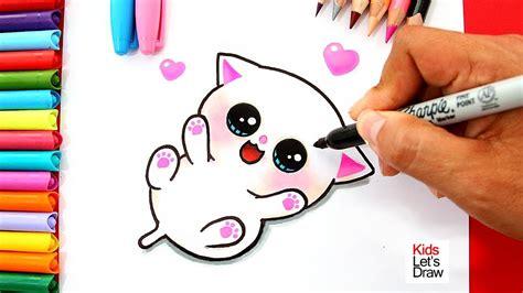 aprende a dibujar un gatito beb 201 kawaii how to draw a