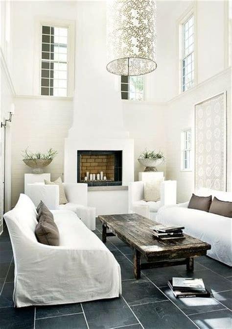 grey slate tile floors white living room for the home