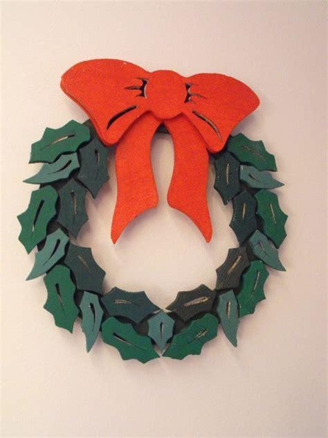 christmas wreath layered door ornament woodchuckcanuckcom