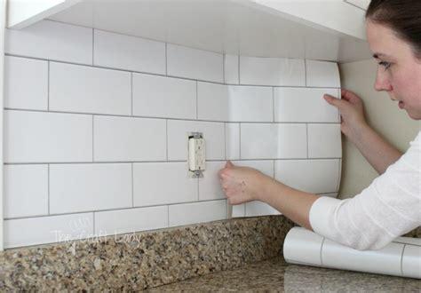 how to do a kitchen backsplash white subway tile temporary backsplash the tutorial