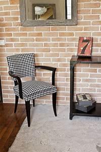 Refaire Un Fauteuil Bridge : fauteuil bridge rev tu d 39 un tissu pied de poule noir et blanc fauteuils pinterest sillas ~ Melissatoandfro.com Idées de Décoration