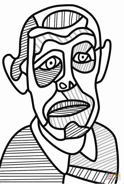 Coloring Dubuffet Portrait Jean Self Pages Para