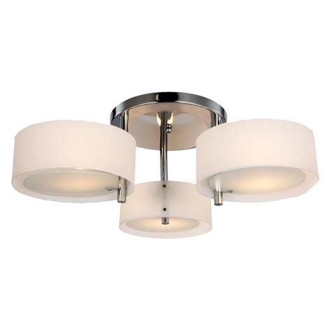 fresh 3 bulb flush mount ceiling light fixture 75 in