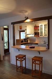 cuisine ouverte sur salon avec bar kirafes With idee ouverture cuisine sur salon