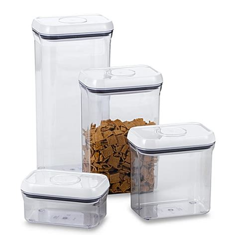 oxo cuisine oxo grips rectangular food storage pop container