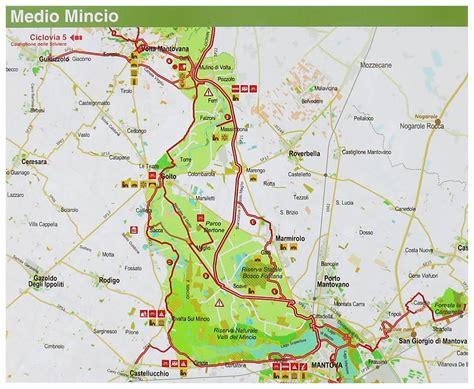 Mappa Volta Mantovana Ciclabile Peschiera Mantova
