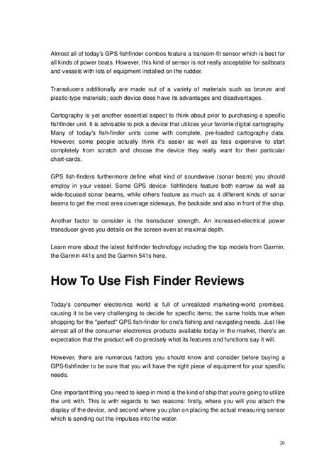 Boat Fish Finder Gps by Best Boat Gps Fishfinder Combo Deanlevin Info