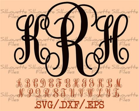 Completely free svg files for cricut, silhouette, sizzix and many other svg compatible welcome to our free svg file section. Monogram Vine Font Design Files For Use With Your ...