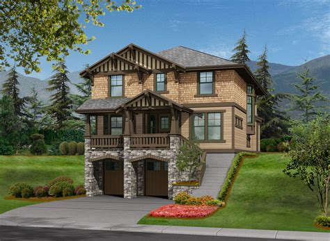 house plans for sloping lots 3 bed house plan for front sloping lot 23372jd