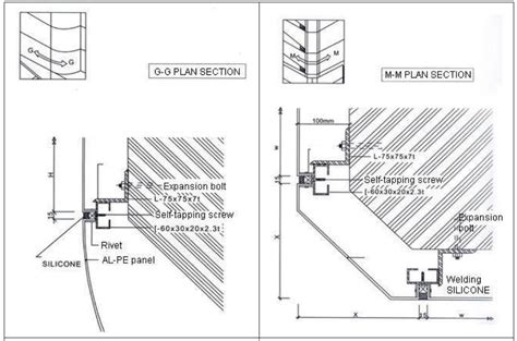 ideabond aluminium composite panel installation gm section foshan city yalida decoration