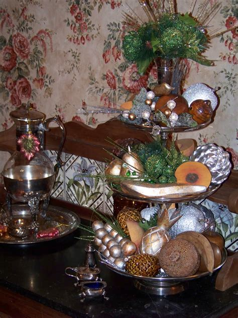 silver trappings thanksgiving table  mantel decorations