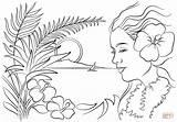 Hawaii Coloring Hawaiian Printable Luau Flowers Colouring Hawaje Colorare Disegni Flower Bellissime Fiori Ausmalbilder Kleurplaat Hawaiani Disegno Immagini Coloriage Magnifique sketch template