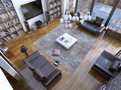 Living Room Birds Eye View by How To Make A Large Space Feel Small And Intimate