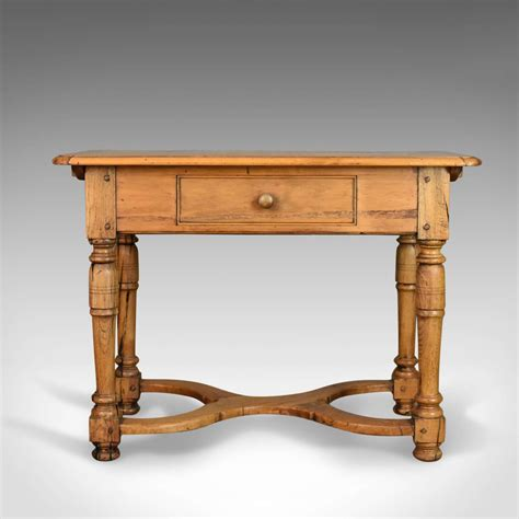 country kitchen side table mid century pine side table french provincial country