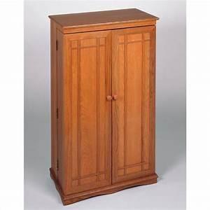 40quot CD DVD Media Storage Cabinet In Oak CD 612