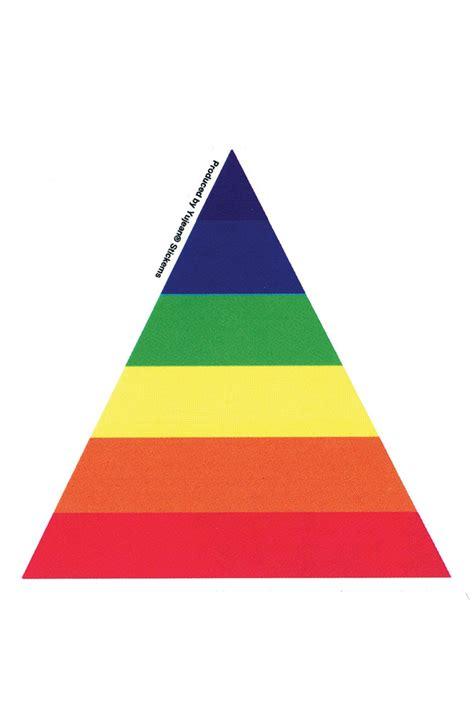 triangle rainbow sticker