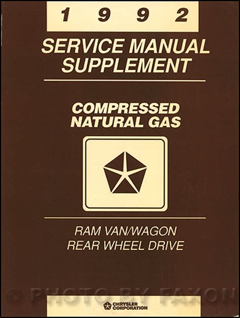 auto repair manual online 1992 dodge ram wagon b250 engine control 1992 dodge ram van wagon repair shop manual original b100 b350