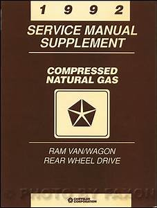 1992 Dodge Ram Van  U0026 Wagon Repair Shop Manual Original