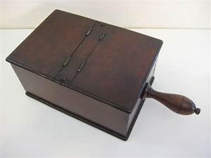 Vintage Wooden Masonic Ballot Box With Handle