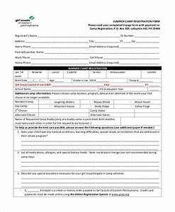 Great Summer Camp Registration Form Template Photos # Good ...