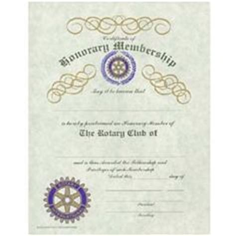 Rotary Club Certificate Template by Rotary International On 61 Pins
